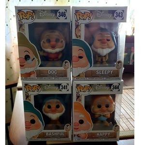 Funko POP Snow White And The Seven Dwarfs Set of 4